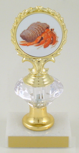 Hermit Crab Logo Diamond Riser Trophy Small