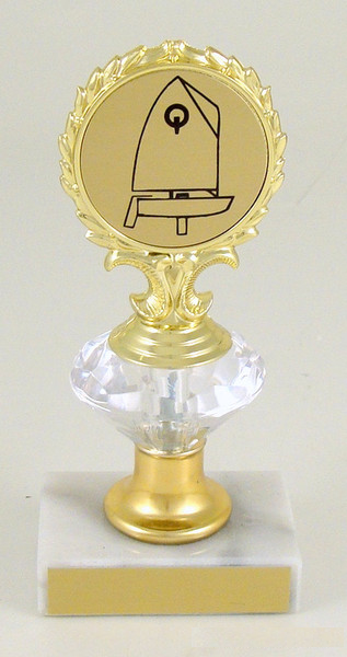 Sail Boat Logo Diamond Riser Trophy Small