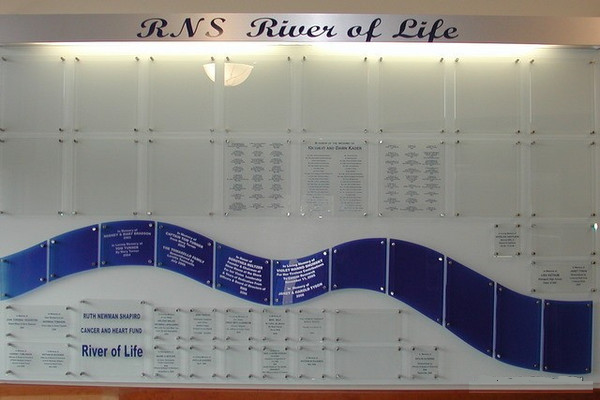 RNS River Of Life Donor Wall
