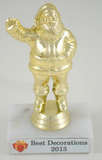 Santa Figure on 2 x 3 Genuine Marble Base-Trophies-Schoppy's Since 1921