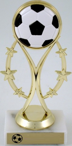 Soccer Trophy on Six-Star Riser
