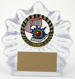 Small Sculpted Ice Acrylic with Street Hockey Mylar-Trophies-Schoppy's Since 1921