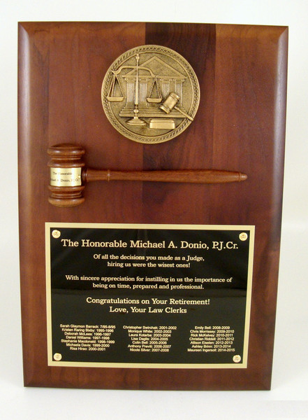 Judge's Gavel Plaque