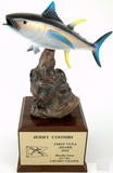 Tuna on Driftwood and Wood Base-Trophies-Schoppy's Since 1921