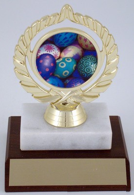 Easter Logo on Marble & Wood Base-Trophies-Schoppy's Since 1921