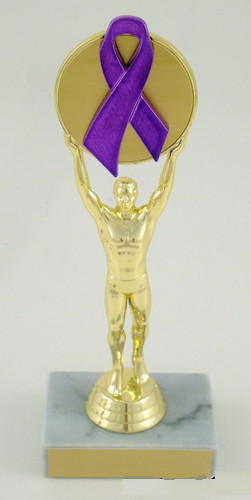 Awareness Ribbon Victory Male Trophy-Trophies-Schoppy's Since 1921