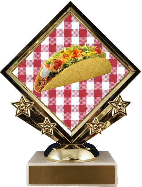 Diamond Star Taco Trophy