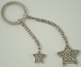 Glitter Galore Double Star Key Chain Glitter Galore-Key Chain-Schoppy's Since 1921