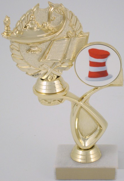 Academic Trophy With Hat Logo in Offset