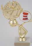 Academic Trophy With Hat Logo in Offset-Trophies-Schoppy's Since 1921