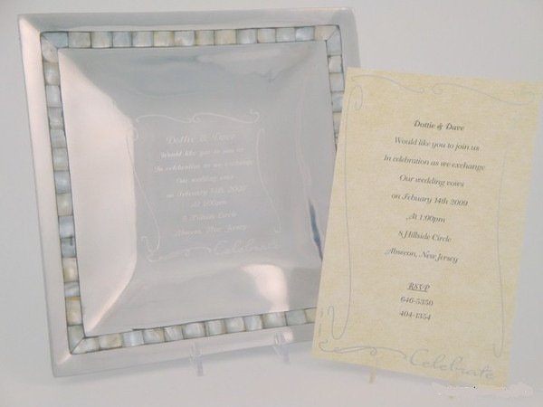 Pearl Inlay Invitation Tray
