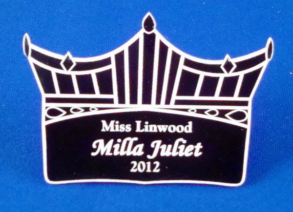 Pageant Crown Badge-Name Tag-Schoppy's Since 1921