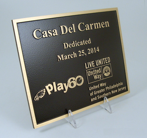 Play60 Logo Casting Plaque