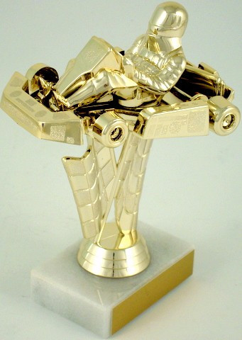 Go-Kart Trophy on Marble Base
