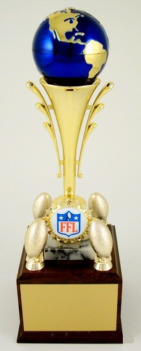 World's Greatest Fantasy Football Champion's Trophy with Spinning Globe