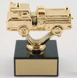 Fire Truck Trophy on Black Marble Base-Trophies-Schoppy's Since 1921
