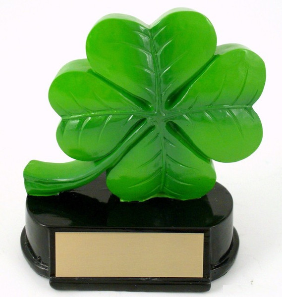 Four Leaf Clover Resin Trophy