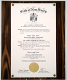 Solid Walnut Proclamation Plaque for Legal Size Documents-Plaque-Schoppy's Since 1921