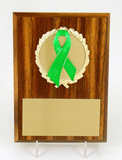 "Awareness Ribbon 4"" x 6"" Half Plaque-Trophies-Schoppy's Since 1921"