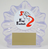 Flag Football Logo Acrylic Shell Trophy-Trophies-Schoppy's Since 1921