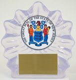 The Great Seal of New Jersey Large Shell Trophy-Trophies-Schoppy's Since 1921