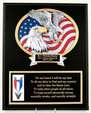 Scout Motto Eagle Plaque-Plaque-Schoppy's Since 1921