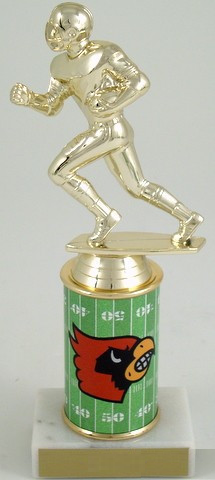 Football Trophy with Custom Round Column-Trophies-Schoppy's Since 1921