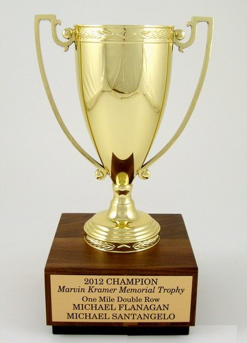 Metal Trophy Cup on Walnut Base-Trophies-Schoppy's Since 1921
