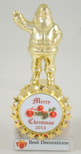Santa Trophy with Christmas Logo
