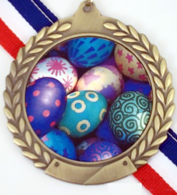 Gold Medal with Easter Logo