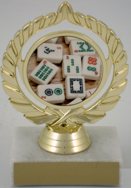 Mah Jong Logo Trophy-Trophies-Schoppy's Since 1921