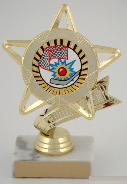 Street Hockey Star Mylar Trophy 23F5043-SH-Trophies-Schoppy's Since 1921