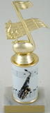 Saxophone Trophy with Custom Round Column-Trophies-Schoppy's Since 1921
