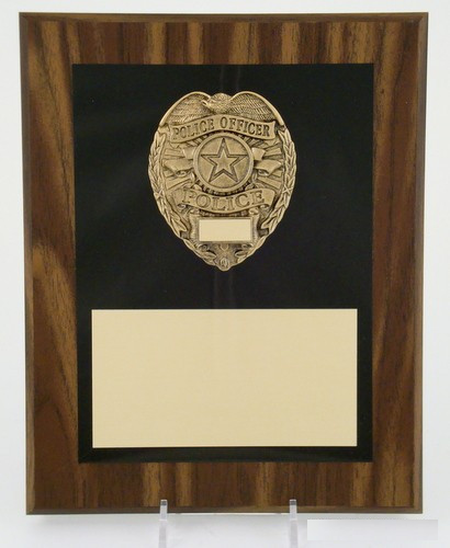 "Police Badge Plaque 8"" x 10""-Plaque-Schoppy's Since 1921"