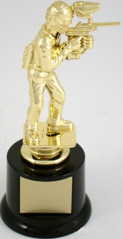 Paintball Trophy on Round Base