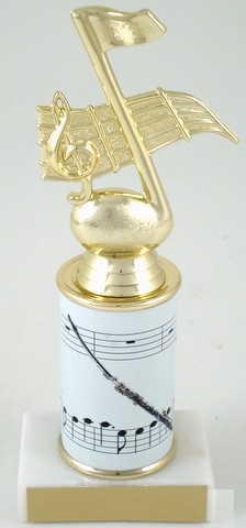 Flute Trophy  with Custom Round Column