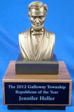 Lincoln Bust on Wood Base-Trophies-Schoppy's Since 1921