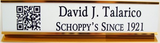 QR Code Desk Nameplate-Name Desk Block-Schoppy's Since 1921