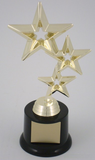 Triple Stars on Black Round Base-Trophies-Schoppy's Since 1921