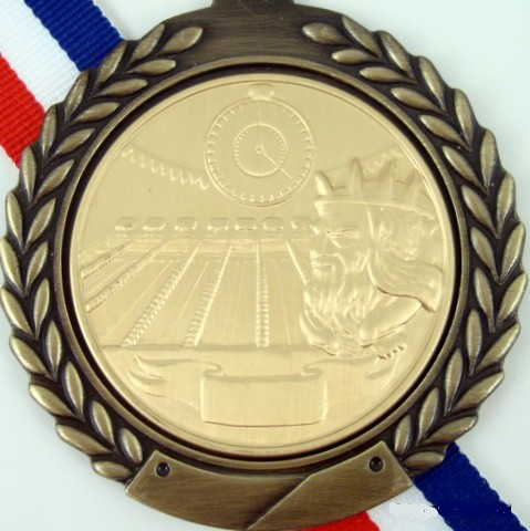 Gold Medal with King Neptune Pool Logo