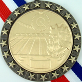 Gold Medal with King Neptune Pool Logo Stars-Medals-Schoppy's Since 1921