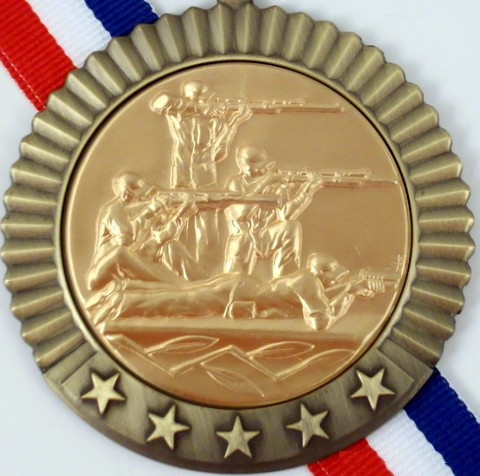Gold Medal with Shooting Logo 5 Stars-Medals-Schoppy's Since 1921