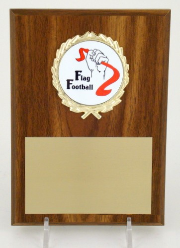 Flag Football Logo 5x7 Plaque-Plaque-Schoppy's Since 1921