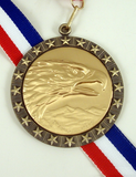 Stars and Stripes Eagle Medal-Medals-Schoppy's Since 1921