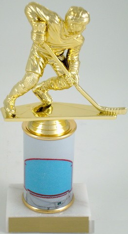 Hockey Trophy with Custom Round Column