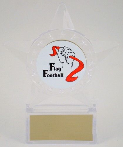 Flag Football Logo in Star Holder