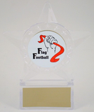 Flag Football Logo in Star Holder-Trophies-Schoppy's Since 1921