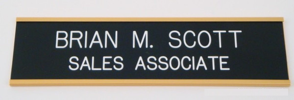 Wall Nameplate 2 x 8 Gold-Name Desk Block-Schoppy's Since 1921