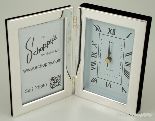 "Hinged Frame 3""x5"" with Clock"