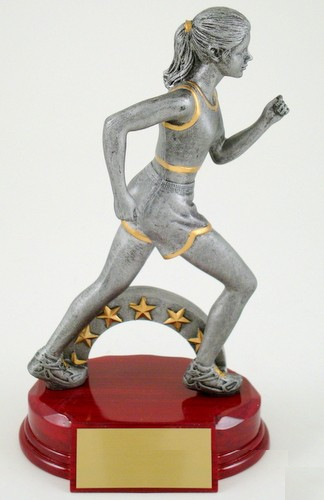 Female Track Runner Resin Trophy